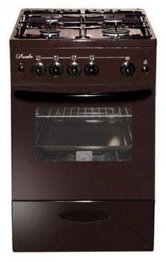 Плита газовая Лысьва ГП 400 МС-2у коричневый, стеклянная крышка