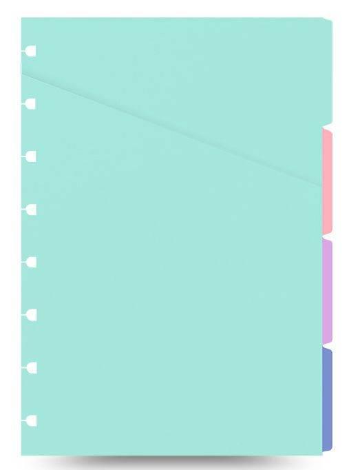 Набор разделителей для тетради Filofax CLASSIC BRIGHT Pocket 90x140мм ассорти - фото 1