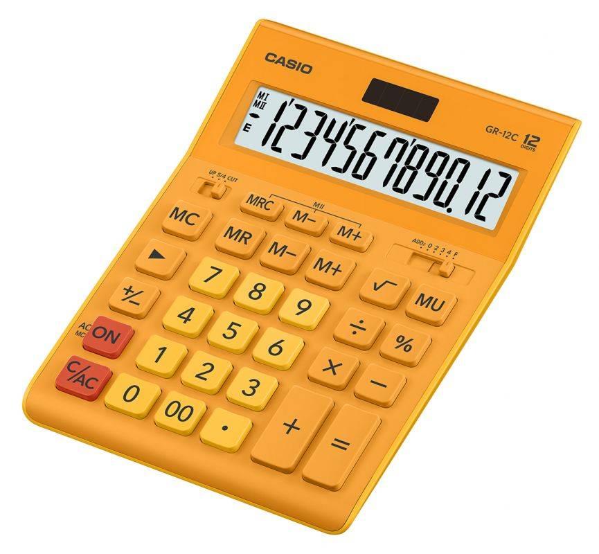 Калькулятор настольный Casio GR-12C-RG оранжевый (GR-12C-RG-W-EP) - фото 1
