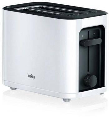 Тостер Braun HT3000 белый/черный (0X23010007)