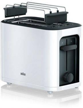 Тостер Braun HT3010 белый/черный (0X23010009)