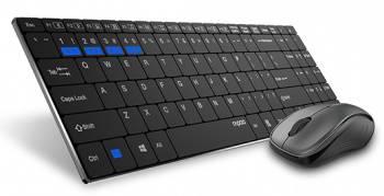 Комплект клавиатура+мышь Rapoo 9060M черный/черный