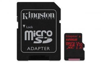 Карта памяти microSDXC 128Gb Class10 Kingston Canvas React (SDCR/128GB)
