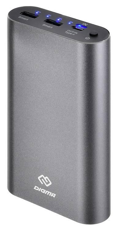 Мобильный аккумулятор DIGMA DG-ME-20000 темно-серый - фото 1
