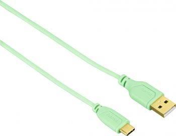 Кабель Hama Flexi-Slim USB Type-C (m)-USB A(m) 0.75м (00135786)