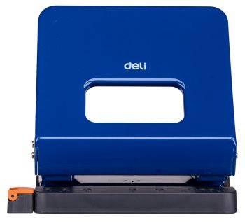 Дырокол Deli E0142blue синий