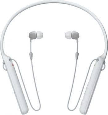 Гарнитура Sony WI-C400 белый (wic400w.e)