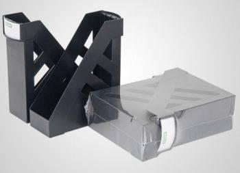Набор лотков вертикальный Стамм ЛТ104 Ультра черный