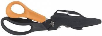 Ножницы универсальные Fiskars Cuts+More черный/оранжевый (1000809)