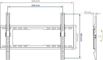 Кронштейн для телевизора Kromax IDEAL-102 черный (24037) (плохая упаковка)