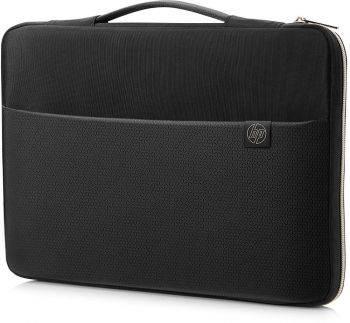 """Чехол для ноутбука 15"""" HP Carry Sleeve черный/золотистый (3XD35AA)"""