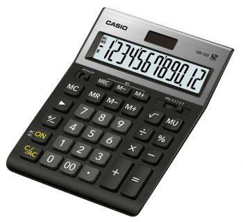 Калькулятор настольный Casio GR-120 черный (GR-120-W-EP)