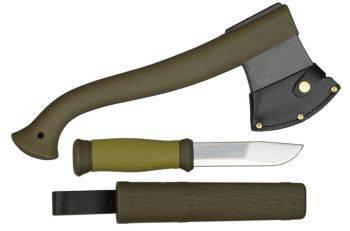 Набор нож/топор Mora Outdoor Kit MG хаки (1-2001)