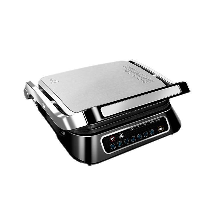 Электрогриль Redmond SteakMaster RGM-M807 черный/серебристый - фото 1