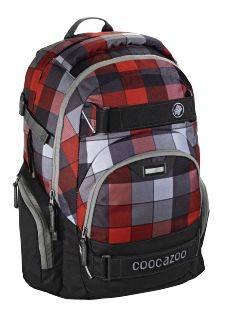 Рюкзак Coocazoo CarryLarry2 Red District серый/красный (00129959)
