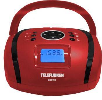 Магнитола Telefunken TF-SRP3449 красный (TF-SRP3449(КРАСНЫЙ С ЧЕРНЫМ))