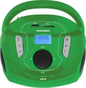 Магнитола Telefunken TF-SRP3471B зеленый (TF-SRP3471B(ЗЕЛЕНЫЙ))