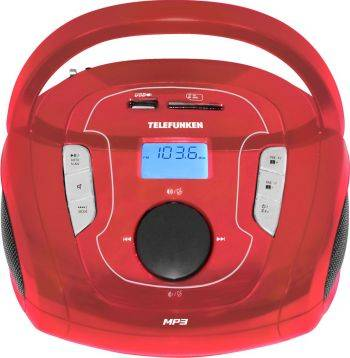 Магнитола Telefunken TF-SRP3471B красный (TF-SRP3471B(КРАСНЫЙ))