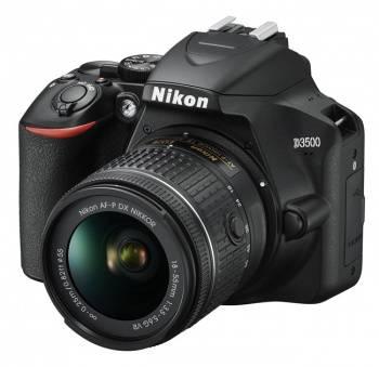 Фотоаппарат Nikon D3500 черный, 1 объектив 18-55mm f/3.5-5.6 VR AF-P (VBA550K001)