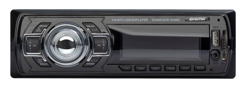 Автомагнитола Digma DCR-330MC - фото 1