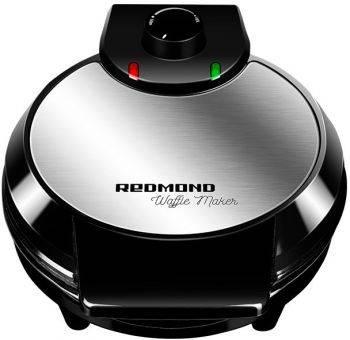 Вафельница Redmond RSM-M1408 черный/серебристый