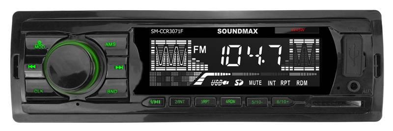 Автомагнитола Soundmax SM-CCR3071F (SM-CCR3071F(ЧЕРНЫЙ)\G) - фото 1