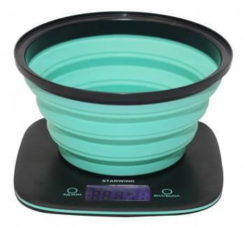 Кухонные весы Starwind SSK5572 темно-серый/бирюзовый (SSK5572_NEON)