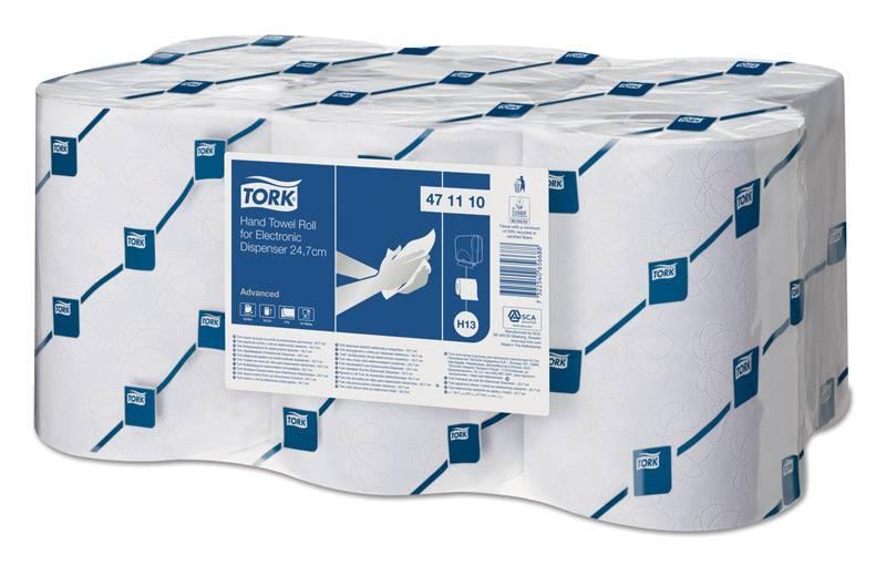 Полотенца бумажные Tork профессиональная Advanced 143м белый (упак.:6рул) (471110) - фото 1