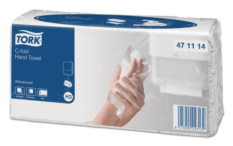 Полотенца бумажные Tork Singlefold профессиональная Advanced 120лист. белый (упак.:20шт) (471114) - фото 1