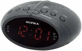 Радиобудильник Supra SA-24FM черный