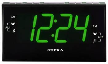 Радиобудильник Supra SA-40FM черный