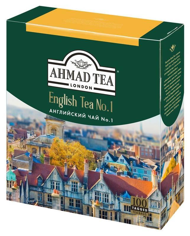 Чай Ahmad Tea English №1 черный 100пак. карт/уп. (598-08) - фото 1