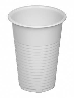 Стакан пласт. 200мл (упак.:100шт) белый (ПОС08743) (30 шт./упак.)