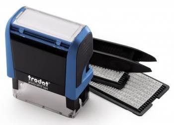 Самонаборный штамп Trodat 4912/DB PRINTY TYPO 4.0 пластик синий