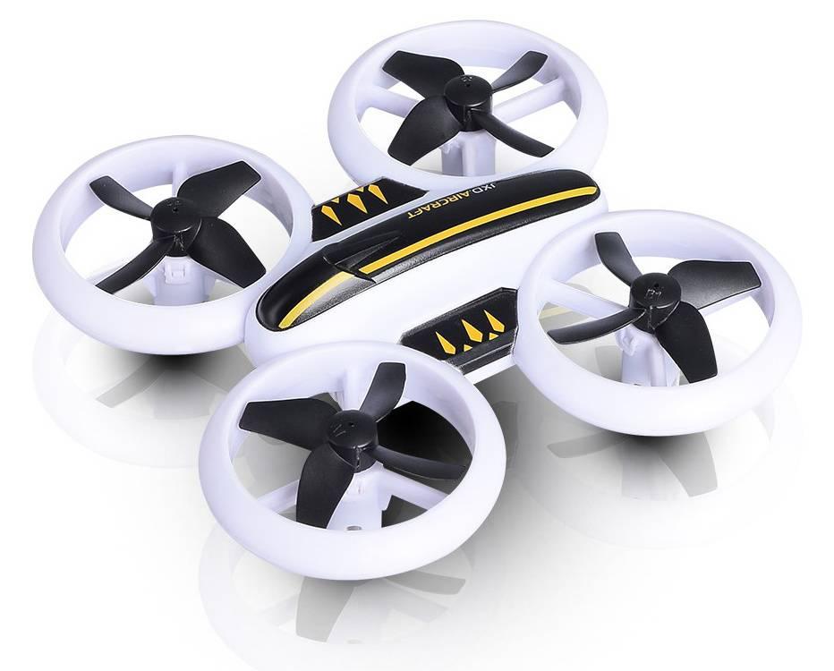 Квадрокоптер JXD Small Neon Drone белый/черный - фото 1