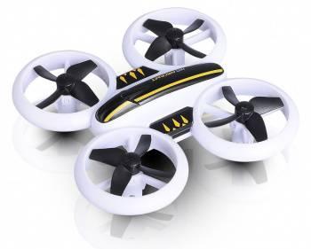 Квадрокоптер JXD Small Neon Drone белый/черный