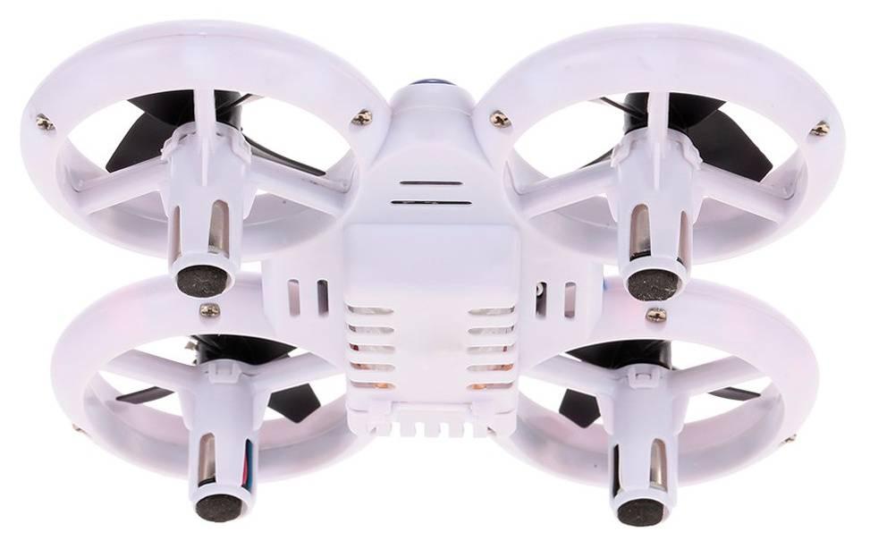 Квадрокоптер JXD Small Neon Drone белый/черный - фото 3