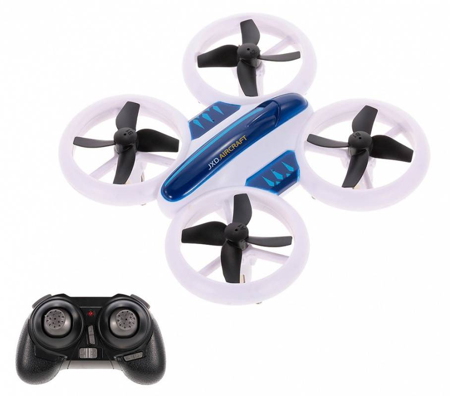Квадрокоптер JXD Small Neon Drone белый/черный - фото 5