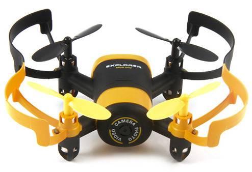 Квадрокоптер JXD Elfin FPV черный/желтый - фото 5