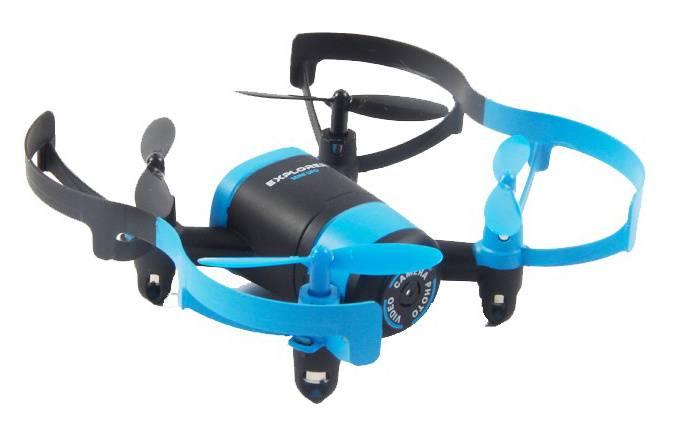 Квадрокоптер JXD Elfin FPV черный/синий - фото 2