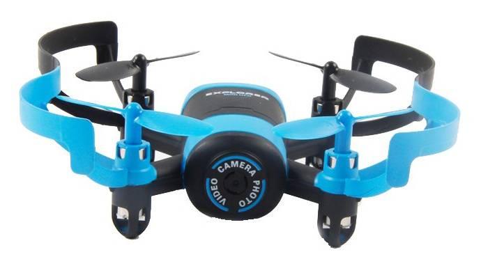 Квадрокоптер JXD Elfin FPV черный/синий - фото 3