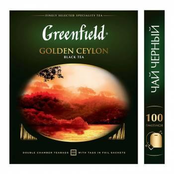 Чай Greenfield Golden Ceylon черный 100пак. карт/уп. (0581-09)