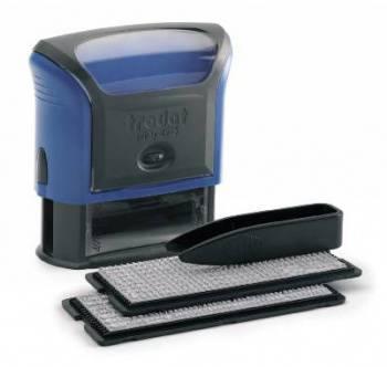 Самонаборный штамп Trodat 4913/DB PRINTY TYPO 4.0 пластик синий