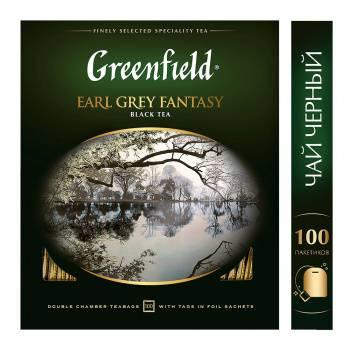 Чай Greenfield Earl Grey Fantasy черный 100пак. карт/уп. (0584-09)