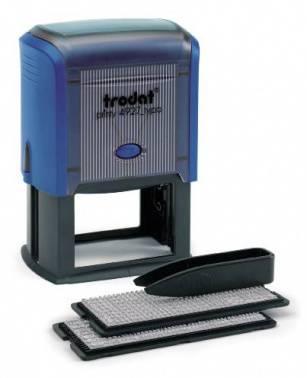Самонаборный штамп Trodat 4927/DB PRINTY TYPO 4.0 пластик синий