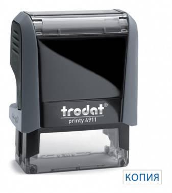 Самонаборный штамп Trodat 4911/DB КОПИЯ 4911/DB/L1.9 PRINTY 4.0 пластик серый
