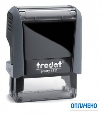 Текстовый штамп Trodat 4911/DB ОПЛАЧЕНО 4911/DB/L1.2 PRINTY 4.0 пластик