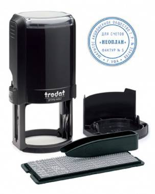 Печать самонаборная Trodat 4642/DB/R1 4642/DB TYPO PRINTY 4.0 R1 пластик черный