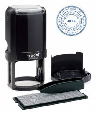Печать самонаборная Trodat 4642/DB/R2 4642/DB TYPO PRINTY 4.0 R2 пластик черный