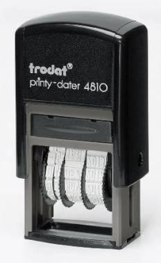 Датер Trodat 4810 PRINTY пластик черный